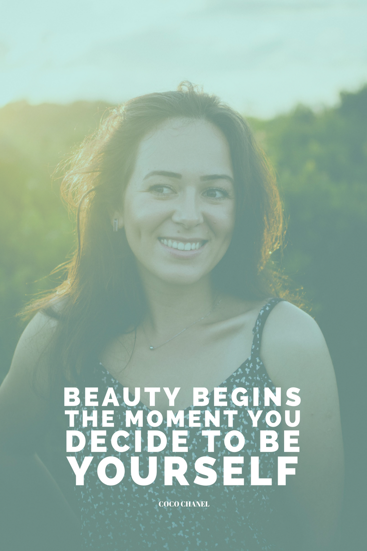 Beauty begins the moment you decide to be yourself. Coco Chanel Want to know 3 lesser-known goals you can set today to be more than happy in life? http://bit.ly/astonishing-happiness-goals