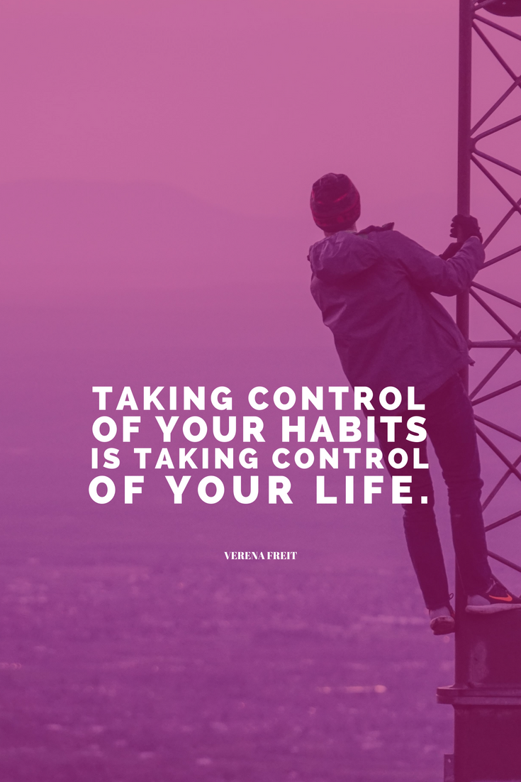 Taking control of your habits means taking control of your life. Verena Freit Learn all the things that should go into your planner, or as we're going to call it from now on: your LIFE'S PLAYBOOK over @allaboutglueck by Verena Freit http://bit.ly/planner-to-change