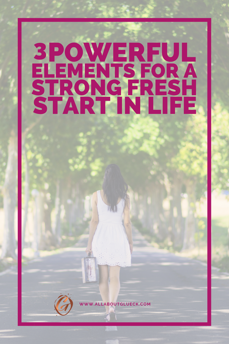 If you have NO IDEA what to do with your life and you're feeling kind of stuck, I've got your back! Let me teach you the 3 basic elements of a strong fresh start in life that will show you that sometimes the fastest way to happiness, is to just start over! Read this post over @allaboutglueck by Verena Freit http://bit.ly/fresh-start-in-life