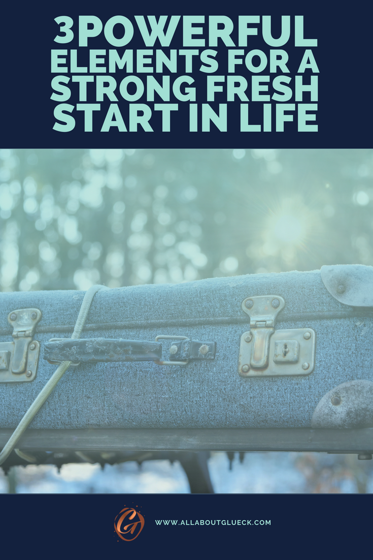 So you have NO IDEA what to do with your life and you're feeling kind of stuck? THIS blog post is for you! Learn the 3 basic elements of a strong fresh start in life that will show you that sometimes the fastest way to happiness, is to just start over! Read this post over @allaboutglueck by Verena Freit http://bit.ly/fresh-start-in-life