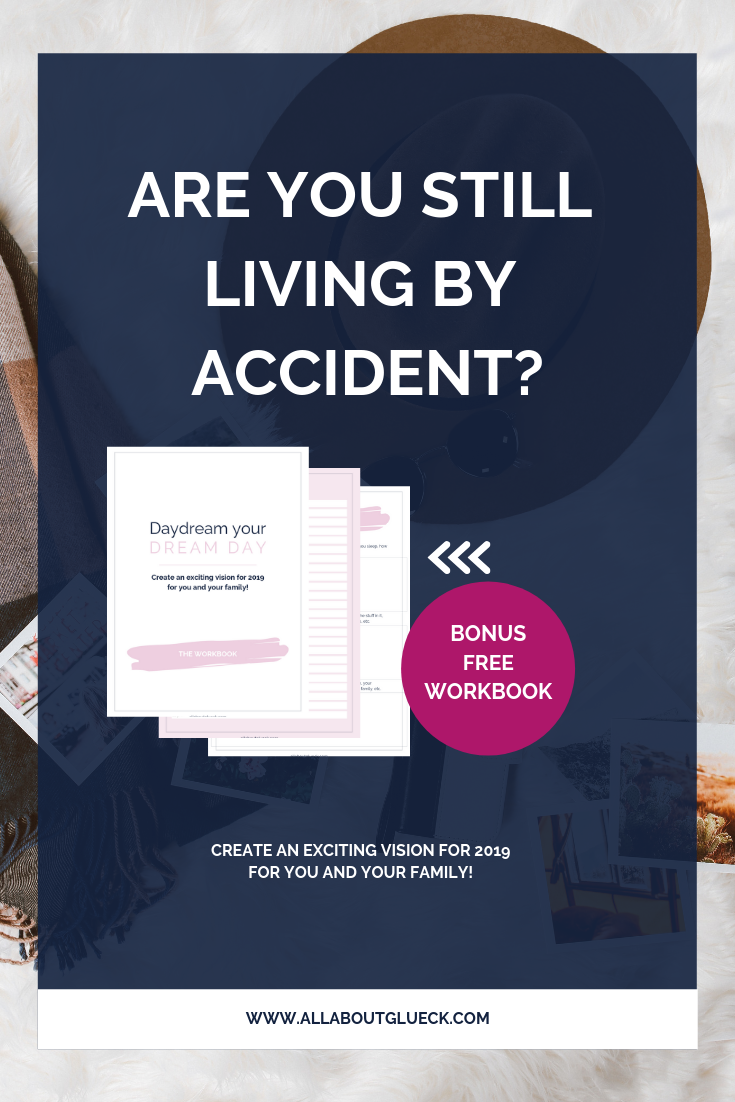 The time of your life running YOU are over! There's no time to waste! Start living by DESIGN! I'll show you how to craft an intentional vision for you and your family for this coming year! And don't forget to download your FREE WORKBOOK! http://bit.ly/livingbyaccident