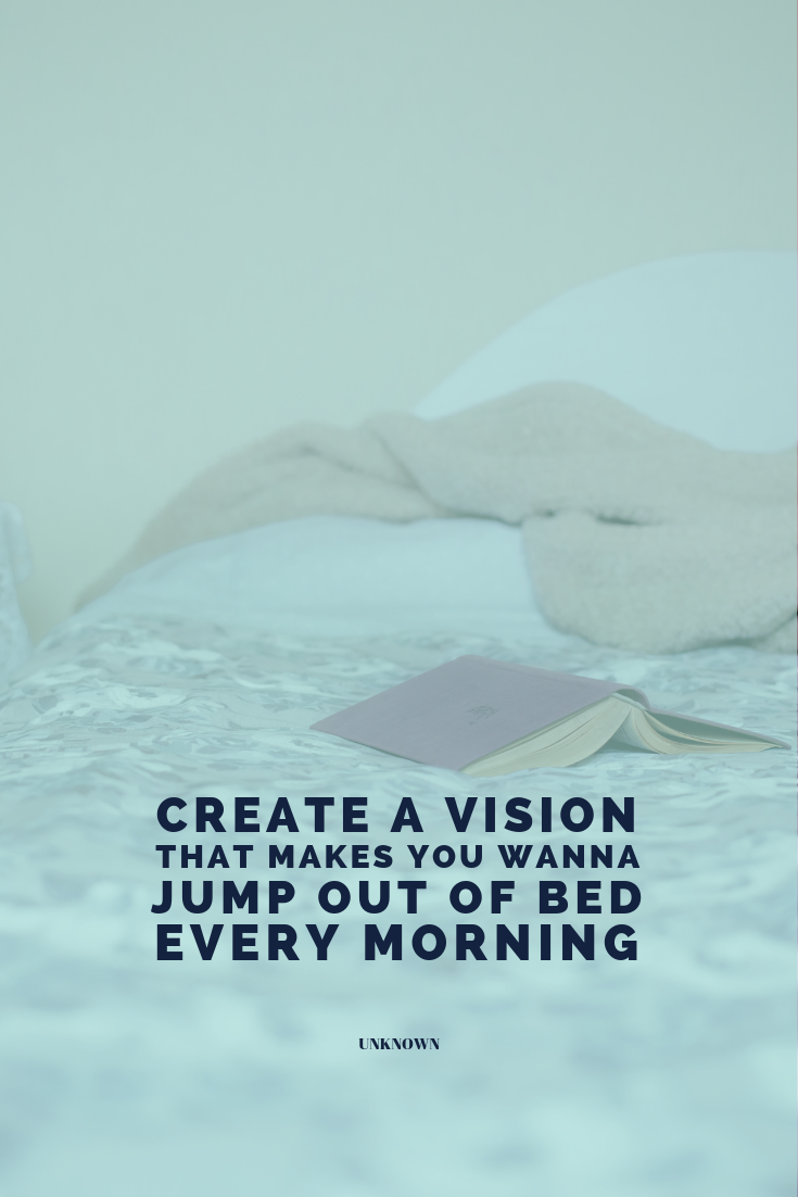 """""""Create a vision that makes you wanna jump out of bed every morning."""" Do you want to take back the lead in your own life instead of just living by accident? I'm giving you the step-by-step on creating an intentional vision for you and your family for this coming year! Don't forget to download your FREE WORKBOOK! http://bit.ly/livingbyaccident"""