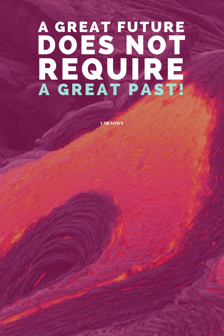 A great future does not require a great past! Unknown - If you want to know how to review your past year to MAKE this year great, don't hesitate to jump over to the blog! http://bit.ly/reflect-on-your-past-year