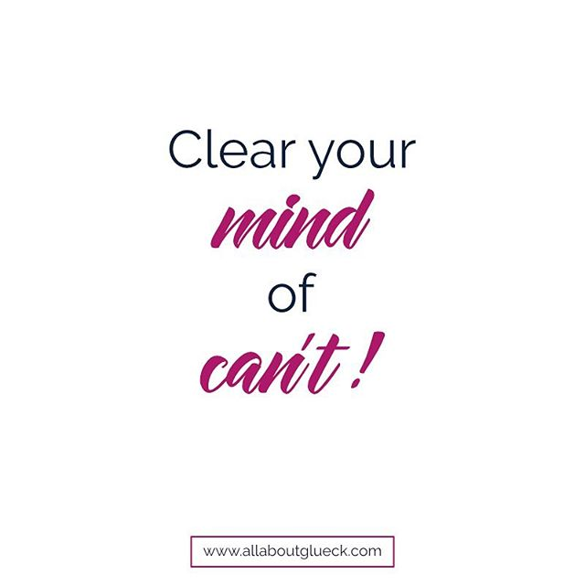 "This is the most important piece of advice anyone can give you for a Monday morning. I guarantee, if you scratch this word (yeah, I know, two words actually), you will achieve things this week you can't even imagine right now.⠀ 💫⠀ Here's to clearing our minds of our roadblocks. Repeat after me: ""I CAN do anything I set out to do."""
