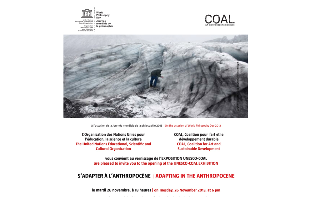 """Come to Venice at """"S'adapter a l'Anthropocene"""", exhibition curated by UNESCO and COAL Prix   Maison de l'UNESCO   Paris   2013    http://www.projetcoal.org/coal/2013/11/19/exposition-sadapter-a-lanthropocene/"""