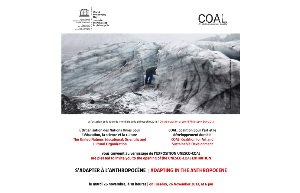 "Come to Venice at ""S'adapter a l'Anthropocene"", exhibition curated by UNESCO and COAL Prix 
