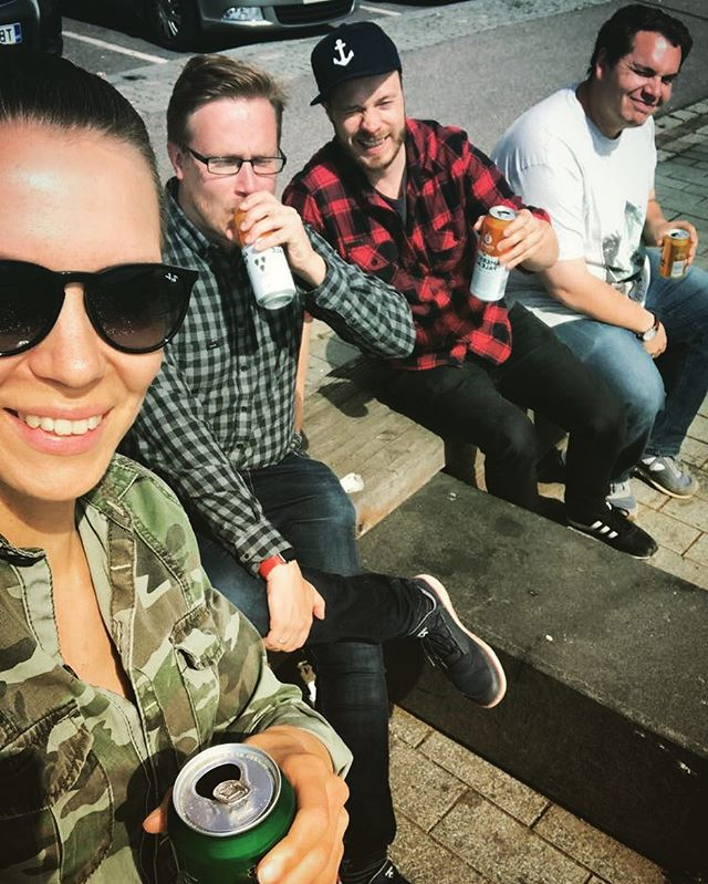 After a hard day of coding 🍻 #afterwork #apa #helsinki #summer #shipyardgames