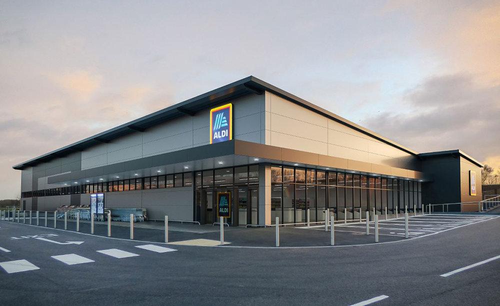 CGI of new Aldi store concept