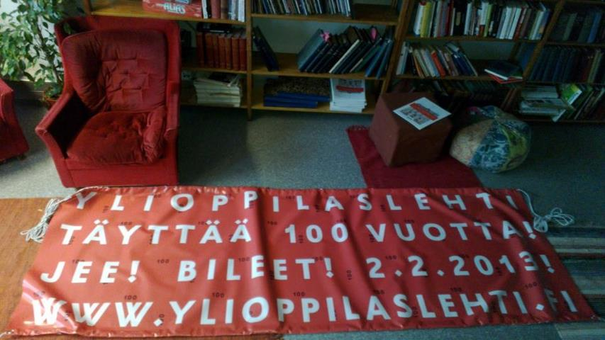 Ylioppilaslehti is celebrating its 100th anniversary in 2013.