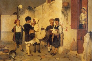 Carols by Greek artist Nikiphorus Lytras, 1872