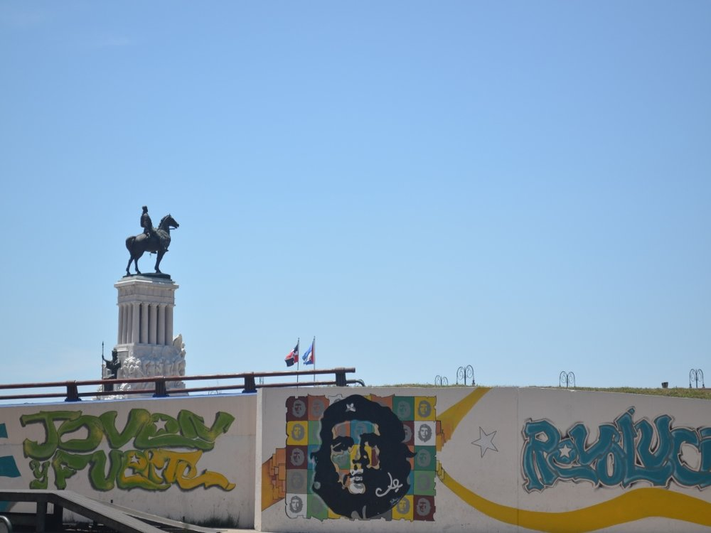 Che on a wall in Havana.