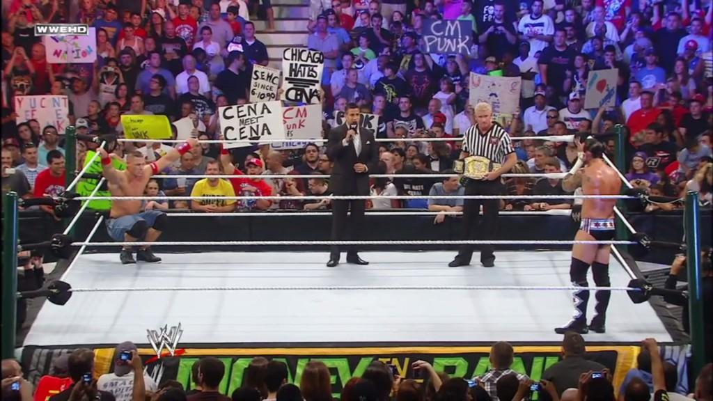 CM Punk and John Cena Face Off (Screencap)
