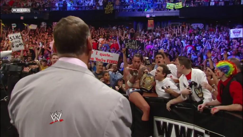 CM Punk blows Vince McMahon a kiss goodbye (Screencap)
