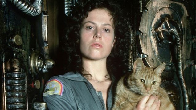 Female and feline power: Lieutenant Ripley and Jones the cat