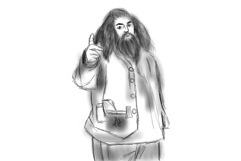 Hagrid: You will learn that English is weird. Everything is weird. -