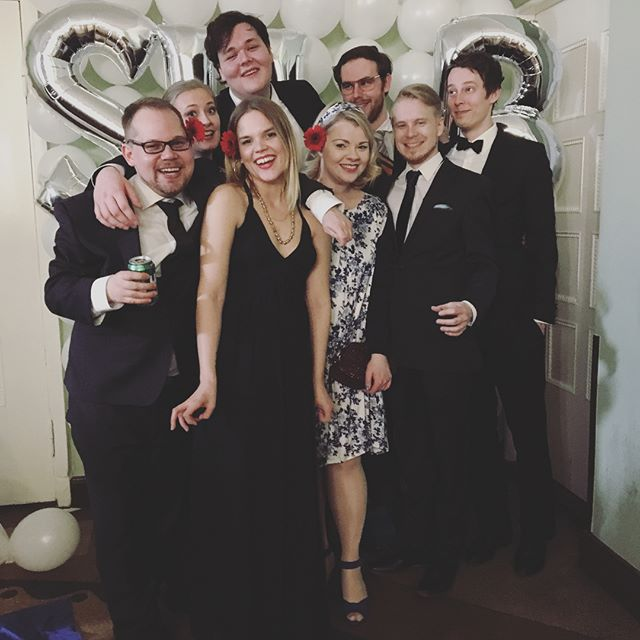BTSB representing at SUB's 46th anniversary dinner. Needless to say things deteriorated quickly🎉🍻🆘 @sub_ry #wearesub#sub#studentlife#btsb#universityofhelsinki#englishstudents#anniversarydinner#studentjournalism