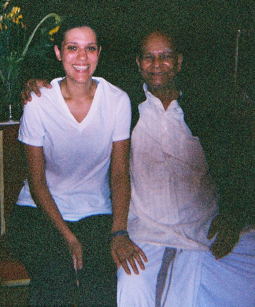 With Sri K. Pattabhi Jois