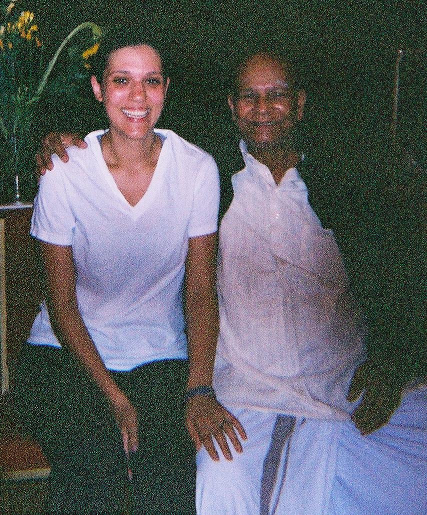 With Sri K. Pattabhi Jois