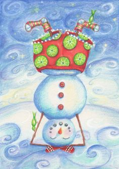 xmas-snowman in heasstand- yoga-yogarani-rani sheilagh.jpg