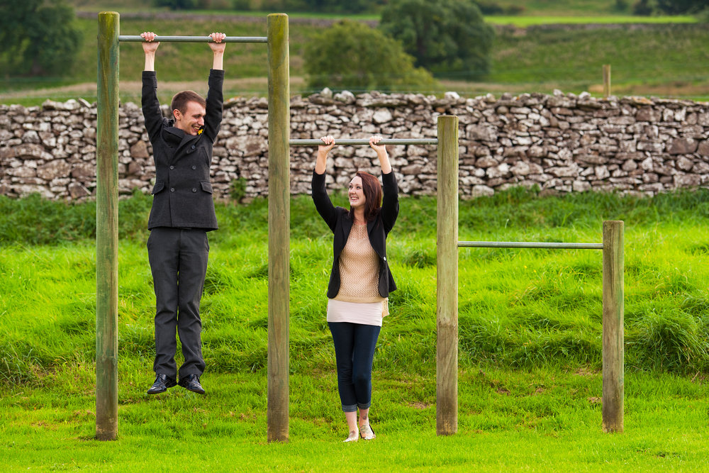 A fun pre-wedding shoot in West Witton, Yorkshire