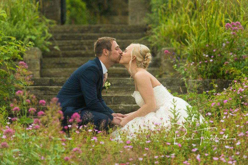 Newlyweds at Kirkstall Abbey Leeds