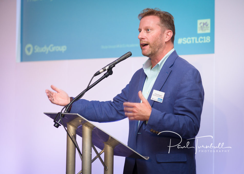 Delegate speaking at a recent conference event in Leeds