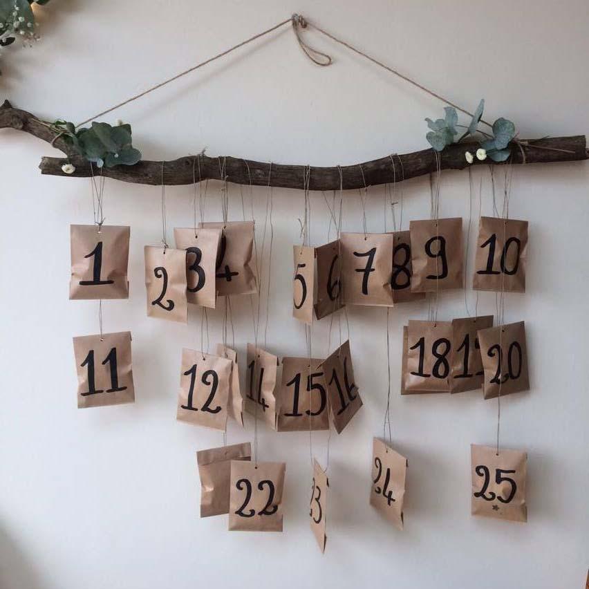 Un calendrier de l'avent Kinfolk par  Marie Claire Idées