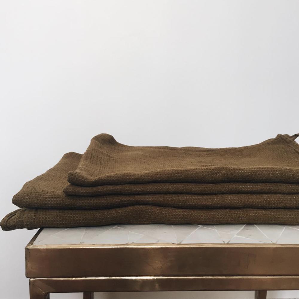 Des serviettes en lin, la plus agréable des matières