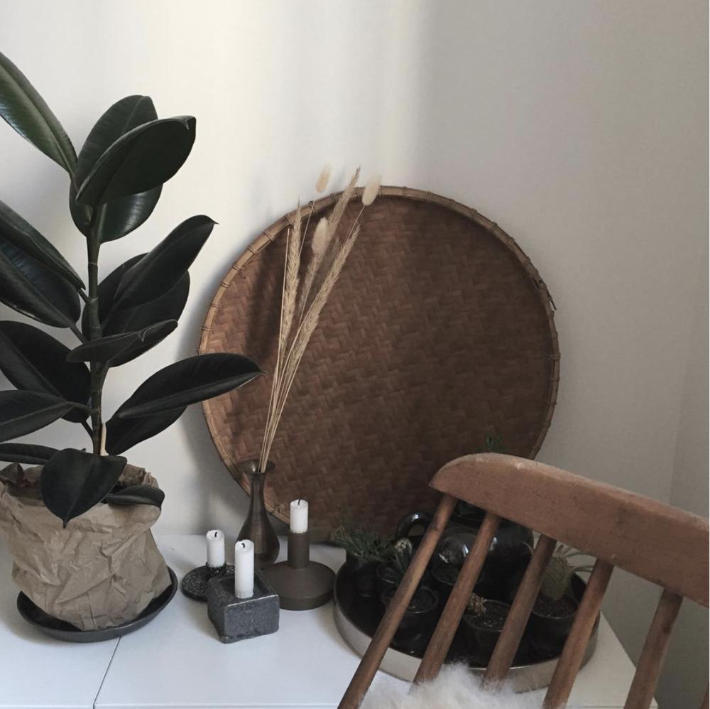 Des plantes, des bougies et des objets chinés
