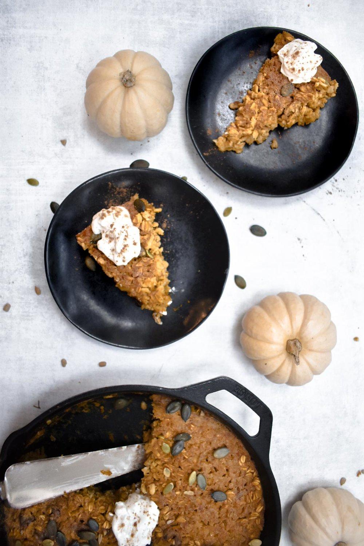Pumpkin Pie Baked Oatmeal Gluten Free