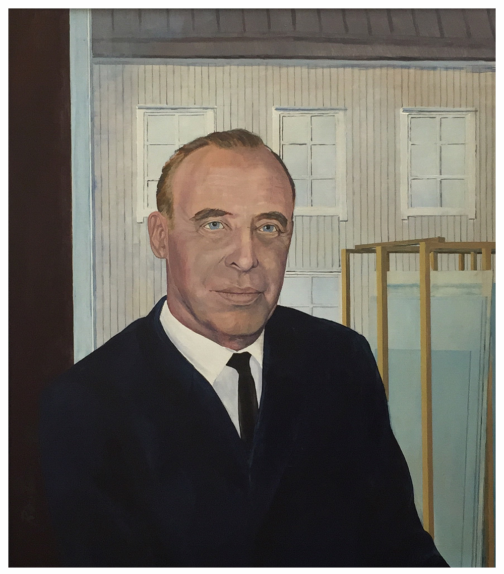 A painting of Tauno Elonen.