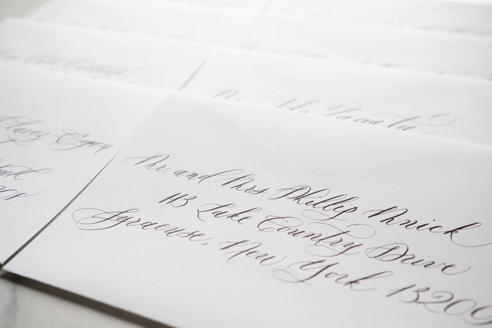 wedding calligraphy - for invitations that feel hand-delivered