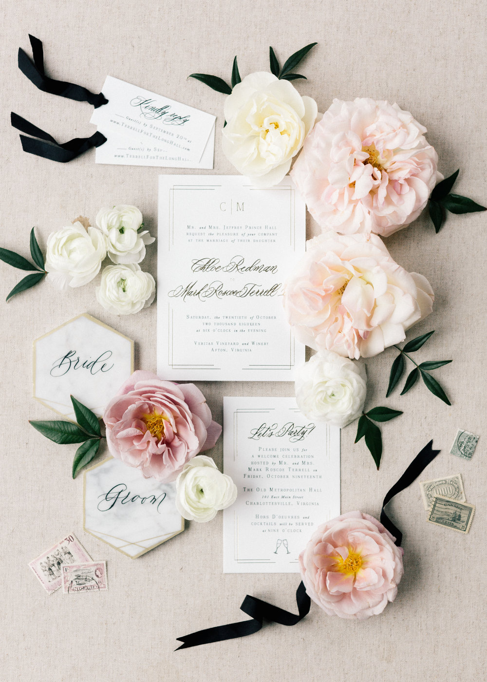 Elegant Custom Invitation Suite