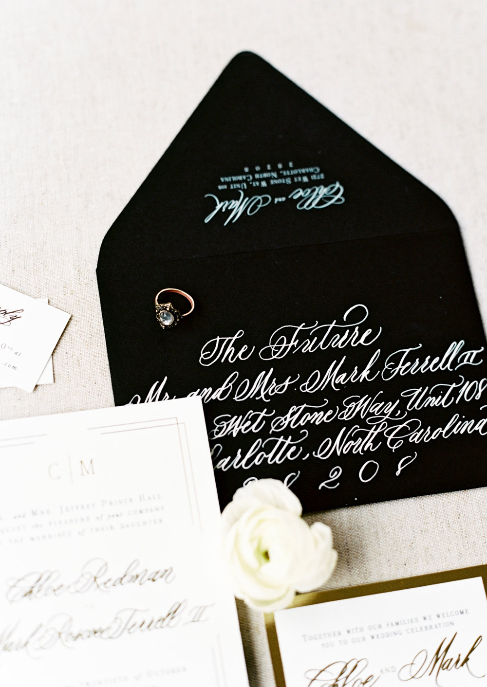 Custom Calligraphy Envelope