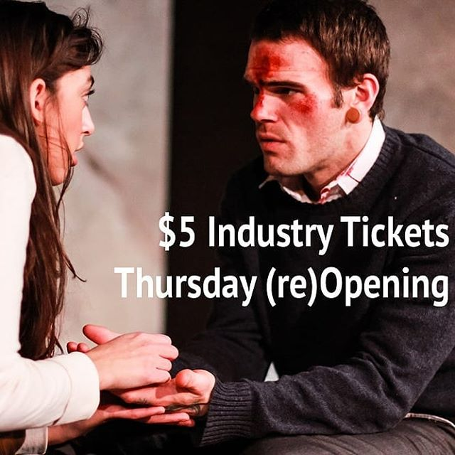 """This magnetic production of """"Gruesome Playground Injuries """" is having a reopening tonight. Here's a deal for Industry Professionals. Performances at The Underground Collaborative, 161 W. Wisconsin Ave., Lower Level, #Milwaukee. Just mention the code INDUSTRY at the door. #theatre #deals #discounts"""