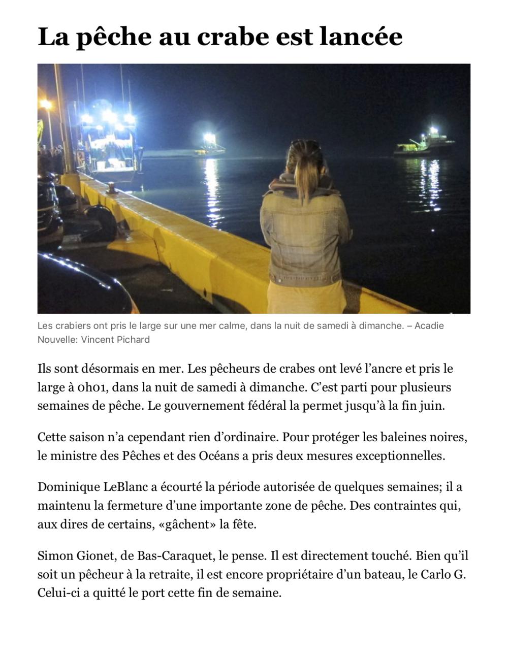 La pêche au crabe est lancée - Acadie Nouvelle (dragged).png