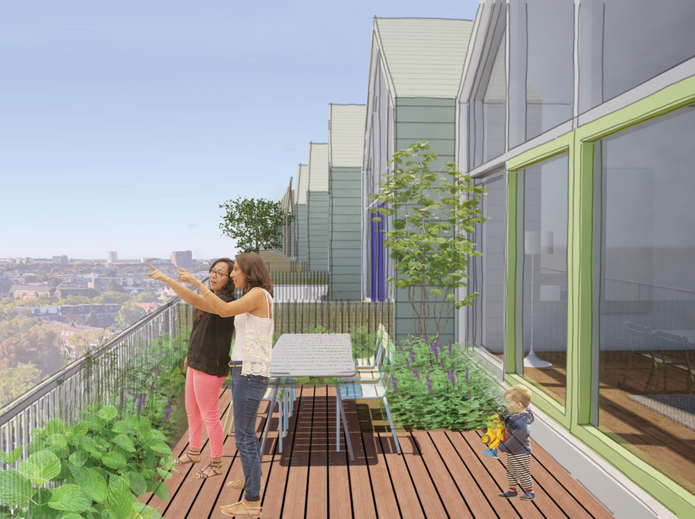 sustainable living atop the city   raising the neighborhood to provide a creative solution to urban densification