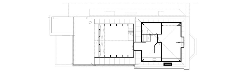 second floor plan - situation prior to intervention