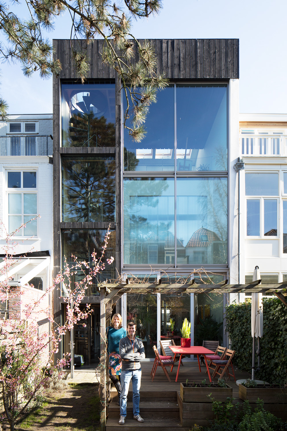 a bold intervention   dramatic transformation of a classic Dutch house