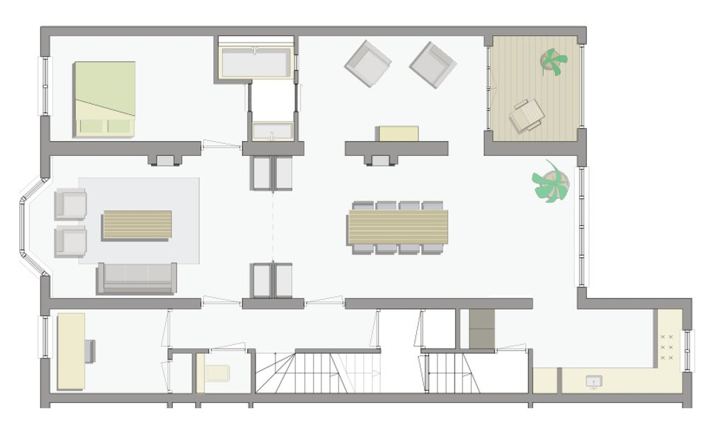 plan of the living area