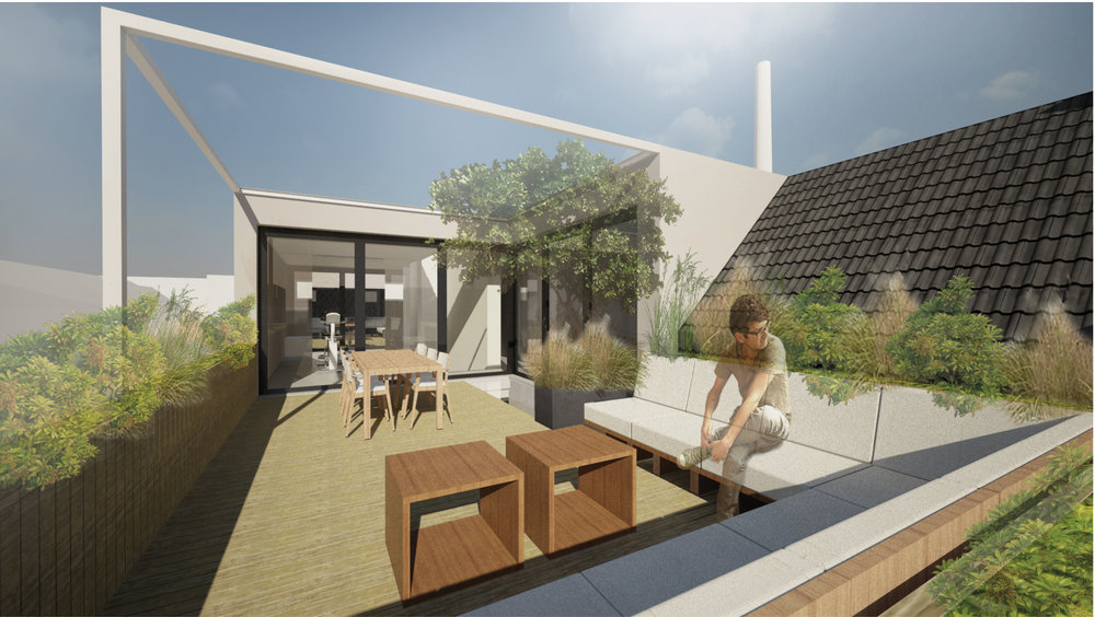 impression of the roof terrace