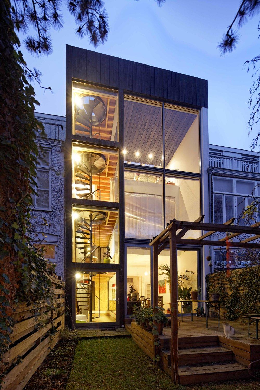 a bold intervention   dramatic transformation of a classic Dutch mansion