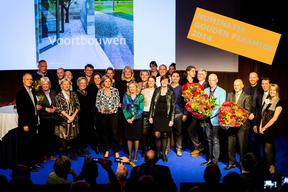all nominees 'Gouden Piramide 2014' with minister Bussemaker (photo Valerie Kuypers)