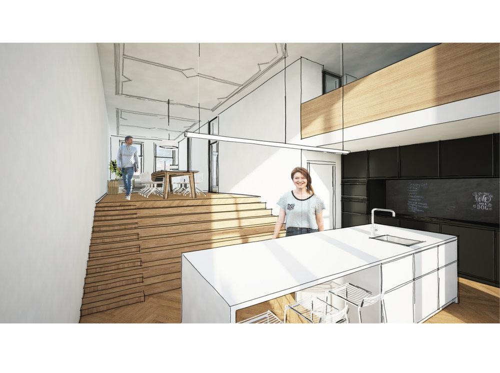 een trap voor de hond   verrassende stadswoning met een opmerkelijke ruimtelijke kwaliteit