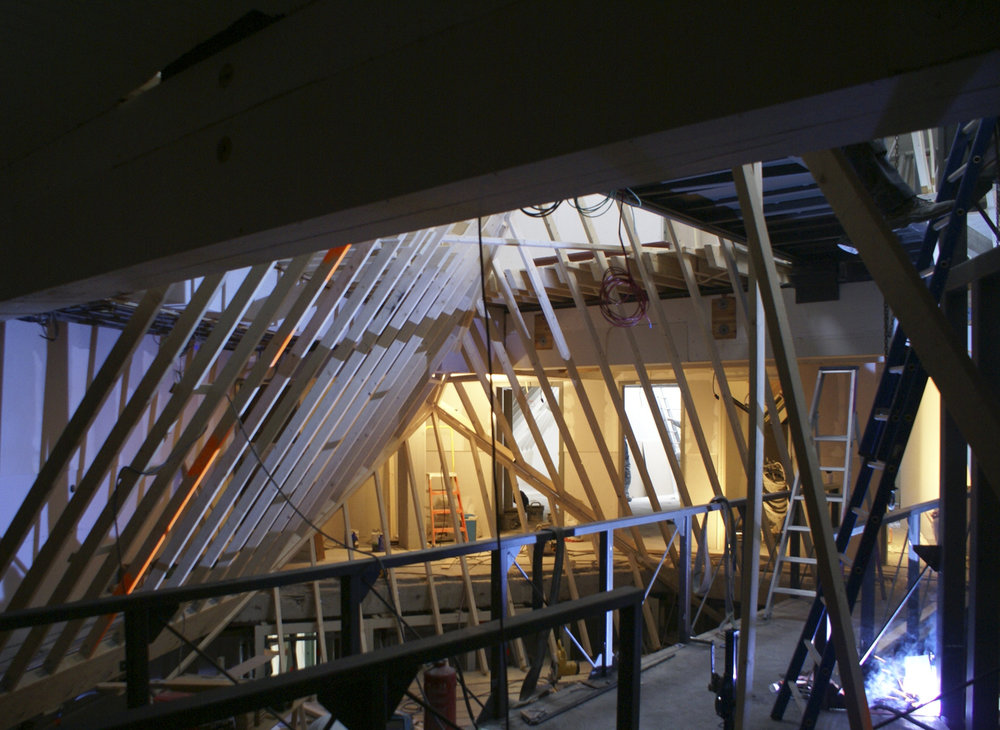 during construction - the interior cube