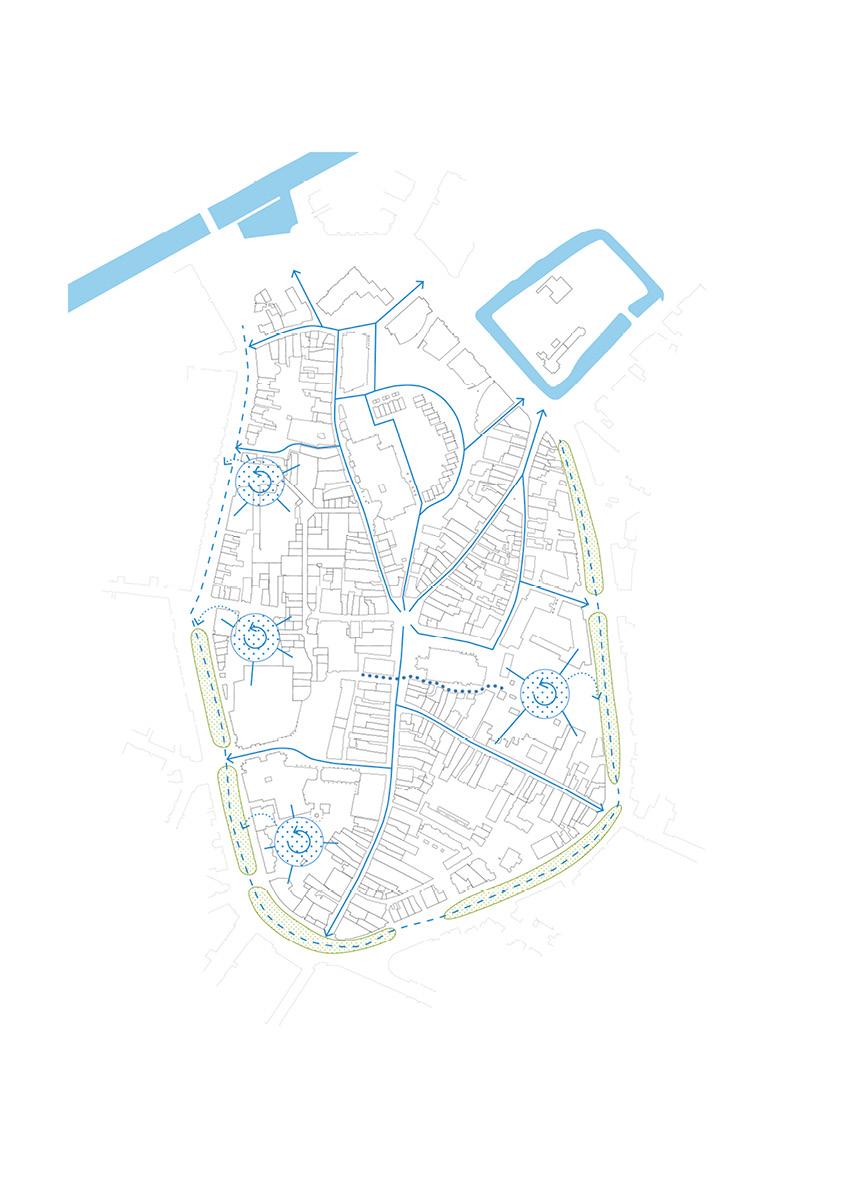 voorstel voor een nieuw watersysteem waarin oude structuren nieuwe betekenis krijgen