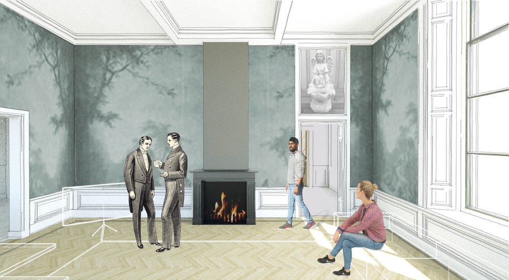 the 'salon' on the bell floor of the country house: a place to come together