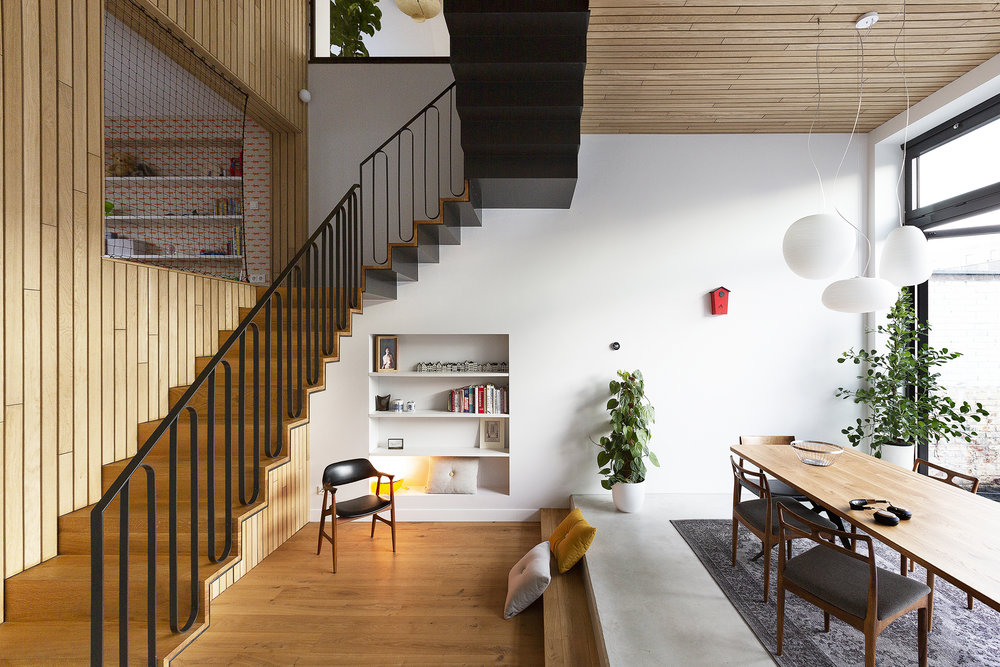 a spectacular connection   merge and transformation of two apartments into a spacious family house