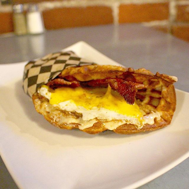 Theo's famous Wafflewich! #digin #pdx