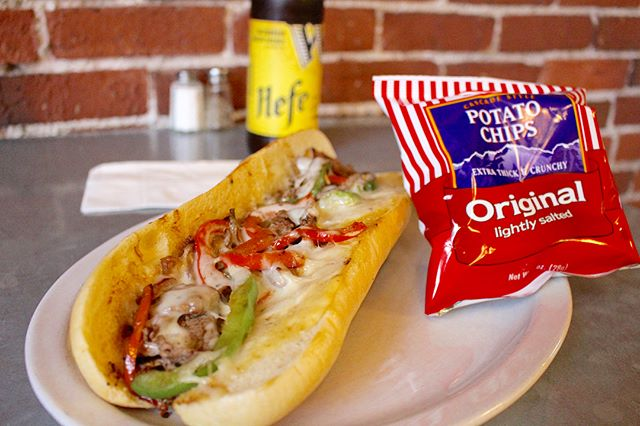 Lunch time! Come try our foot-long philly with a side choice for free! #digin #pdx
